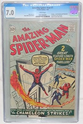 AMAZING SPIDERMAN 1 1963 CGC 70 WHITE PAGES MARVEL BLUE LABEL NO RESERVE