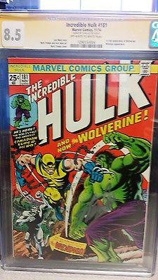 Incredible Hulk 181  CGC SS 85  1st app of the Wolverine Stan Lee