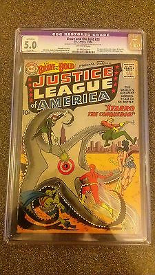 Brave and the Bold 28 CGC 50 Restored 1960 1st Justice League of America Starro