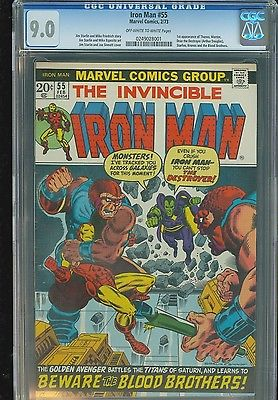 IRON MAN 55  1st Appearance THANOS  CGC 90 Blue Label  NOT PRESSED
