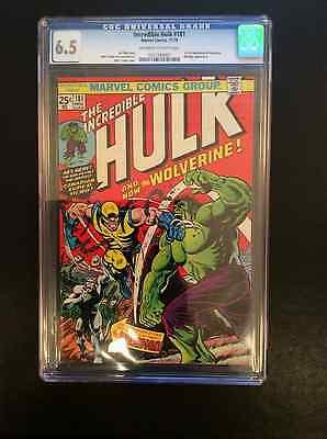 1974 Marvel Comics INCREDIBLE HULK 181 CGC 65 NEW CASE first WOLVERINE