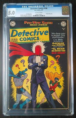 Batman Detective Comics 168 Feb 1951 Vol 1 Origin of Joker CGC 50 VGFN