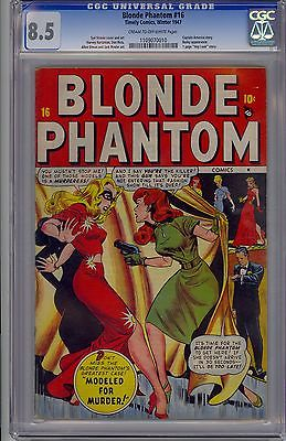 BLONDE PHANTOM 16  CGC  85  VF  1947 TIMELY  CREAMOFF WHITE PAGES