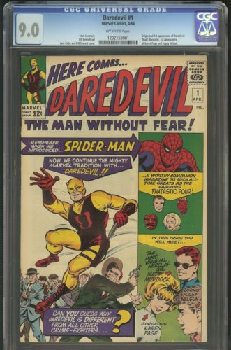 DAREDEVIL 1 CGC UNIVERSAL 90 OW 1ST APPEARANCE AND ORIGIN