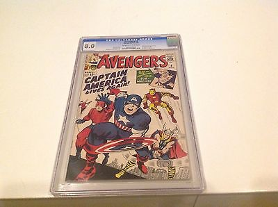 Avengers 4 CGC 80 First Silver Age Captain America  Marvel