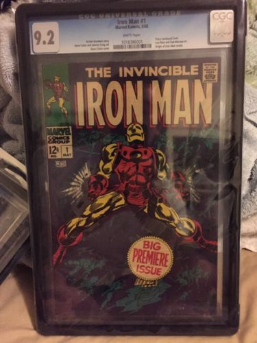 Iron Man 1 May 1968 Marvel Cgc 92 White Pages