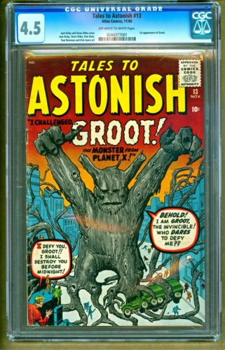 Tales to Astonish 13 1960 Marvel 1st appearance of Groot NO RESERVE CGC PGX