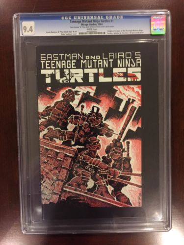 Teenage Mutant Ninja Turtles 1 CGC 94 TMNT 1st Print White Pages