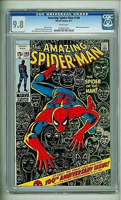 AMAZING SPIDERMAN 100 CGC 98 WHITE PAGES