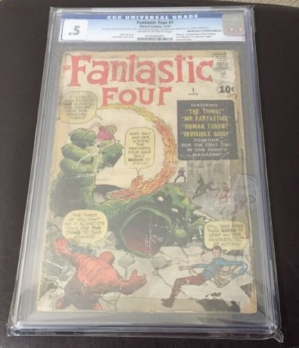 FANTASTIC FOUR 1 CGC 5 Major Silver Age Marvel key Stan Lee