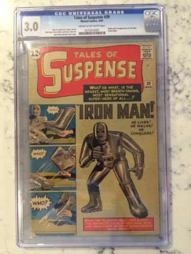 Tales of Suspense 39 CGC 30 First Appearance of Iron Man