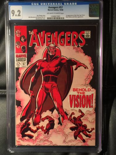 The Avengers 57 CGC 92 1968  First Appearance Silver Age Vision