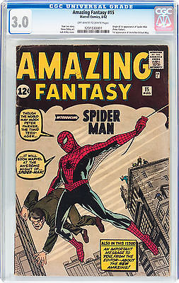 Amazing Fantasy 15 CGC 30 1st App Spiderman Marvel 1962