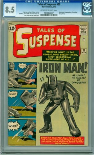 TALES OF SUSPENSE 39 CGC 85 1ST APPEARANCE OF IRON MAN LOOKS 92 CGC  KEY