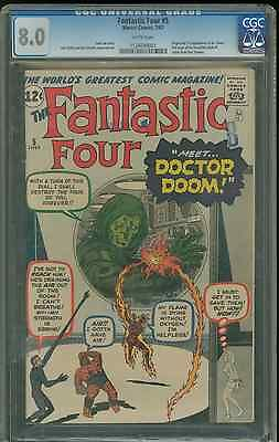 Fantastic Four 5 80 graded CGC 1st DOCTOR DOOM appearance