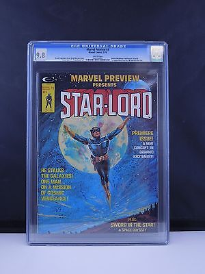 Marvel Preview 4 1976 CGC 98 NMM StarLord 1st Appearance Origin WHITE Pages