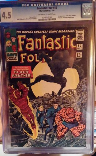 Fantastic Four 52 CGC 45  Super Key  1st appearance of the Black Panther