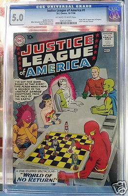Justice League of America 1 CGC 50 DC 1960 Superman Batman JLA NO RESERVE