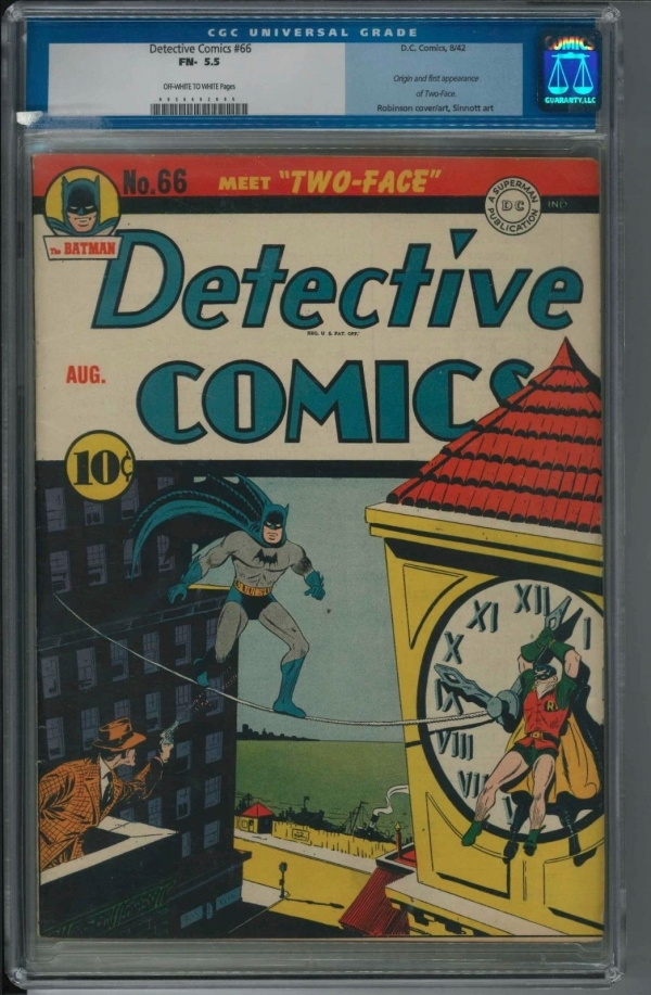Detective Comics 66 CGC 55 First Two Face RARE