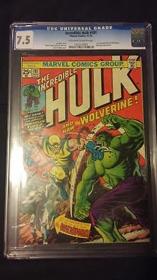 Incredible Hulk 181   CGC 75  1st Wolverine  oww pages