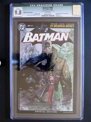 Batman 608 DC 2002 MINT CGC 98 NMMT  Retailer Edition  Signed by Jim Lee