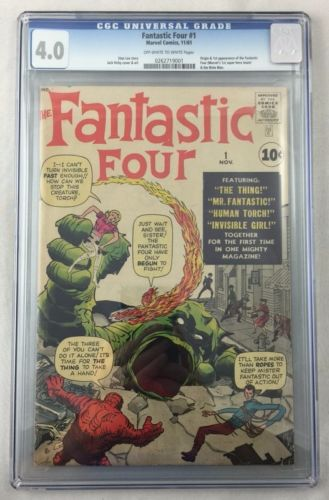 Fantastic Four 1 CGC 40 Silver Age Comic Off White To White Pages