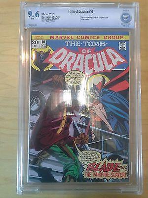 TOMB OF DRACULA 10 CBCS 96 1st App BLADE Marvel 1973 Netflix Rare Grail CGC