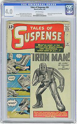 Tales of Suspense 39 CGC 40 OW MEGA KEY 1st app Iron Man Kirby Ditko Marvel