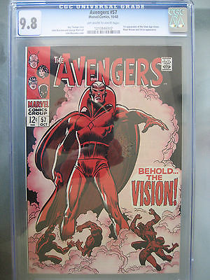 The Avengers 57 CGC 98 NMMT 1st Vision Silver Age Marvel Comics 1968