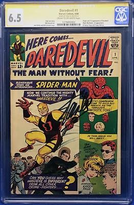 Daredevil 1 CGC 65 1st appearance of Daredevil Signed by Stan Lee
