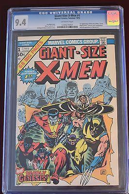 Giant Size XMen 1 1975 CGC 94 1st Colossus Storm Nightcrawler 2nd Wolverine