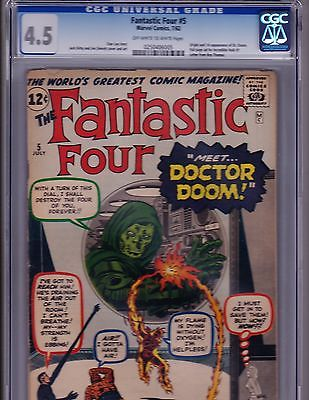 Fantastic Four  5   CGC  45   1st App Dr Doom   Jack Kirby Art