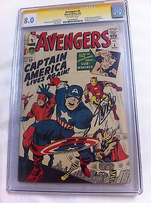 Avengers 4 CGC 80 SS Stan Lee LK First SA Captain America  NO RESERVE