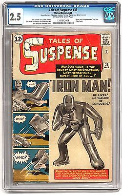 Tales of Suspense 39 CGC 25 OWW 1st Appearance of Iron Man Avengers