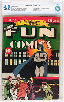 More Fun Comics 52 CBCS 40 Unrestored not CGC  Spectre Cover