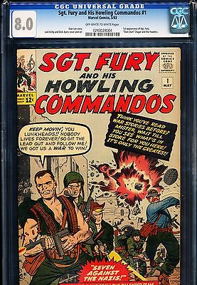 SGT FURY 1 CGC 80 1st App of Sgt Fury Jack Kirby cover  art 1963