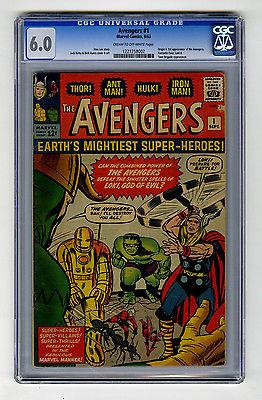 Avengers 1 CGC 60 Origin  1st Iron Man Thor Hulk Marvel Silver Age Comic