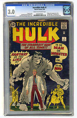 Incredible Hulk 1 CGC 30 1st Hulk appearance Hot comic with Avengers movie