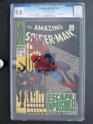 Amazing SpiderMan 65 MARVEL 1968 MINT CGC 98 NMMT  HIGHEST GRADE
