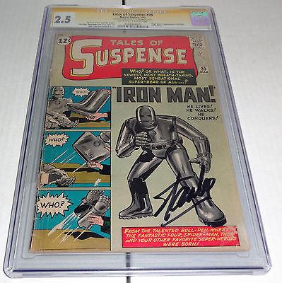 Tales of Suspense 39 CGC SS Signature Autograph STAN LEE Origin 1st Iron Man