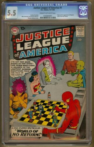 Justice League of America 1 CGC 55 COW  Origin  1st Despero Batman Superman