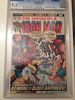 Iron Man 55 CGC 92 White Pages Unrestored First Thanos Drax