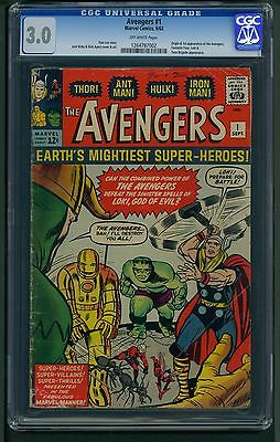 Avengers 1 1963 CGC Graded 30  Stan Lee  Jack Kirby  Dick Ayers