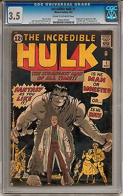 Incredible Hulk 1 CGC 35 COW Origin and 1st appearance of the Hulk