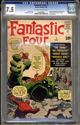 Fantastic Four 1 CGC 75 VF Universal No Reserve