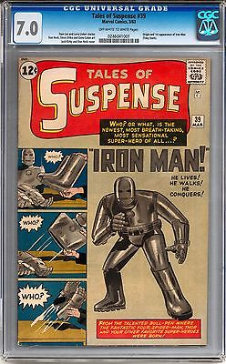 Tales of Suspense 39 CGC 70 OWW 1st Appearance of Iron Man Avengers
