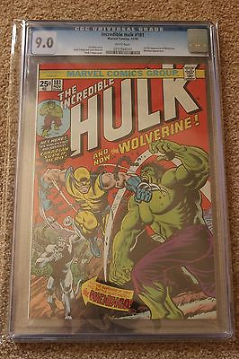 Incredible Hulk 181 CGC 90 Universal WHITE PAGES 1st Appearance of Wolverine
