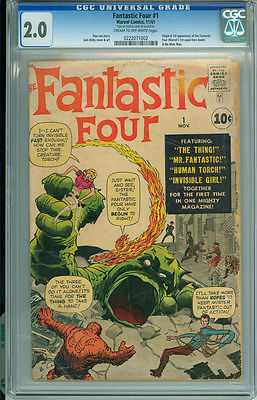 Fantastic Four 1 CGC 20 GD Marvel 1961 Stan Lee Jack Kirby 1st App Origin Issue