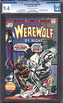 1972 Werewolf by Night 32 CGC 94 1st Moonknight Check out my other books