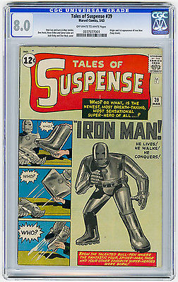 Tales of Suspense 39 CGC 80 OWW MEGA KEY Origin  1st app Marvel Silver Age